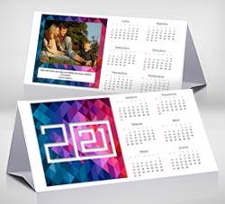 Tarjetas de Navidad para imprimir. Calendario de escritorio 2021