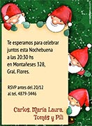 Tarjetas de Navidad para imprimir. Pequeños Santa