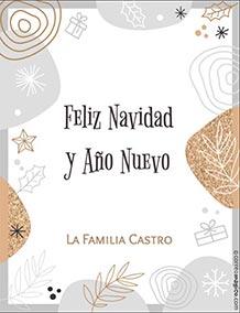 Tarjetas de Navidad para imprimir. Feliz Navidad y Año Nuevo