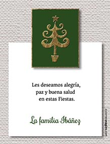 Tarjetas de Navidad para imprimir. Alegría, paz y buena salud