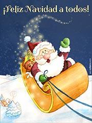 Tarjetas de Navidad para imprimir. Ilusión navideña